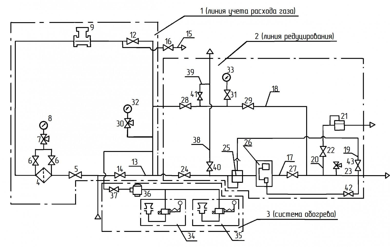 схема предохранительно-запорный клапан