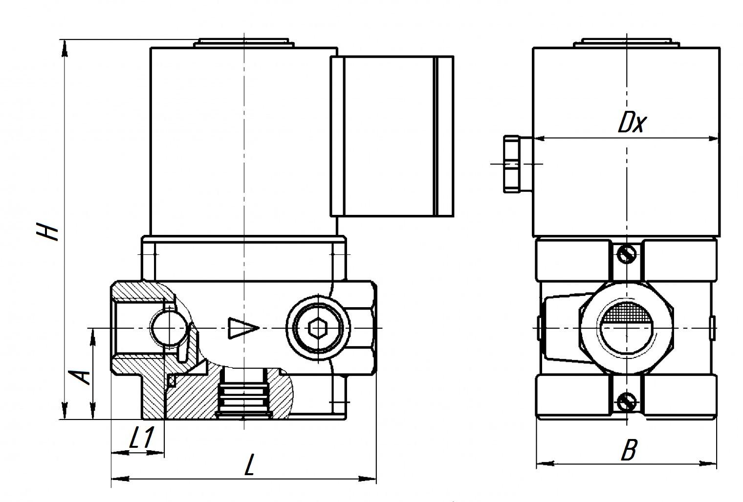 Клапан ВФ 1Н-4 ЭС