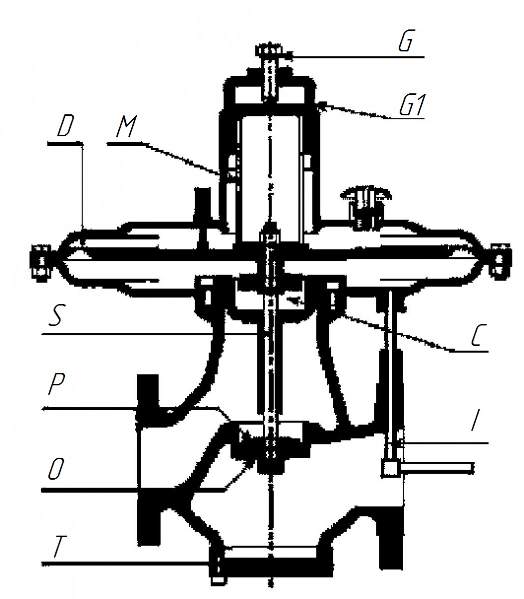 схема регулятора давления газа рдбк1-50