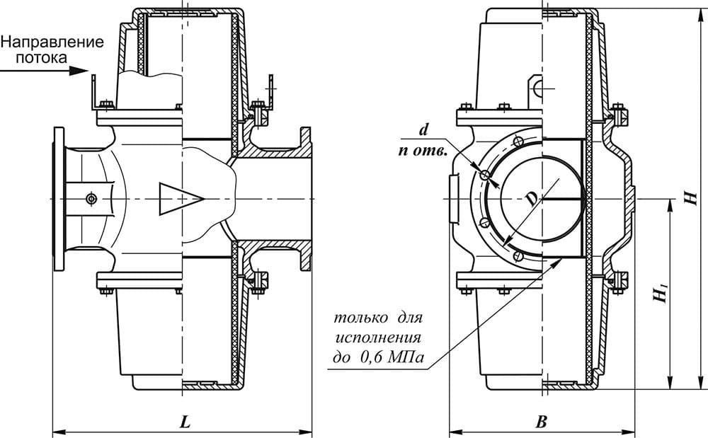 Гидравлический сепаратор Ду100