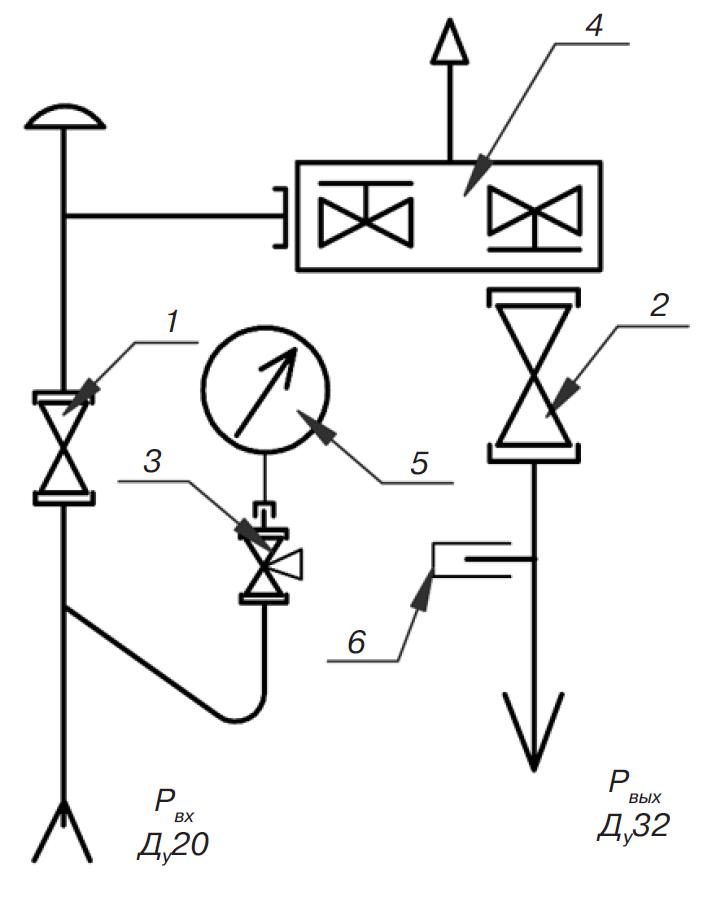 обозначение кранов шаровых на чертежах