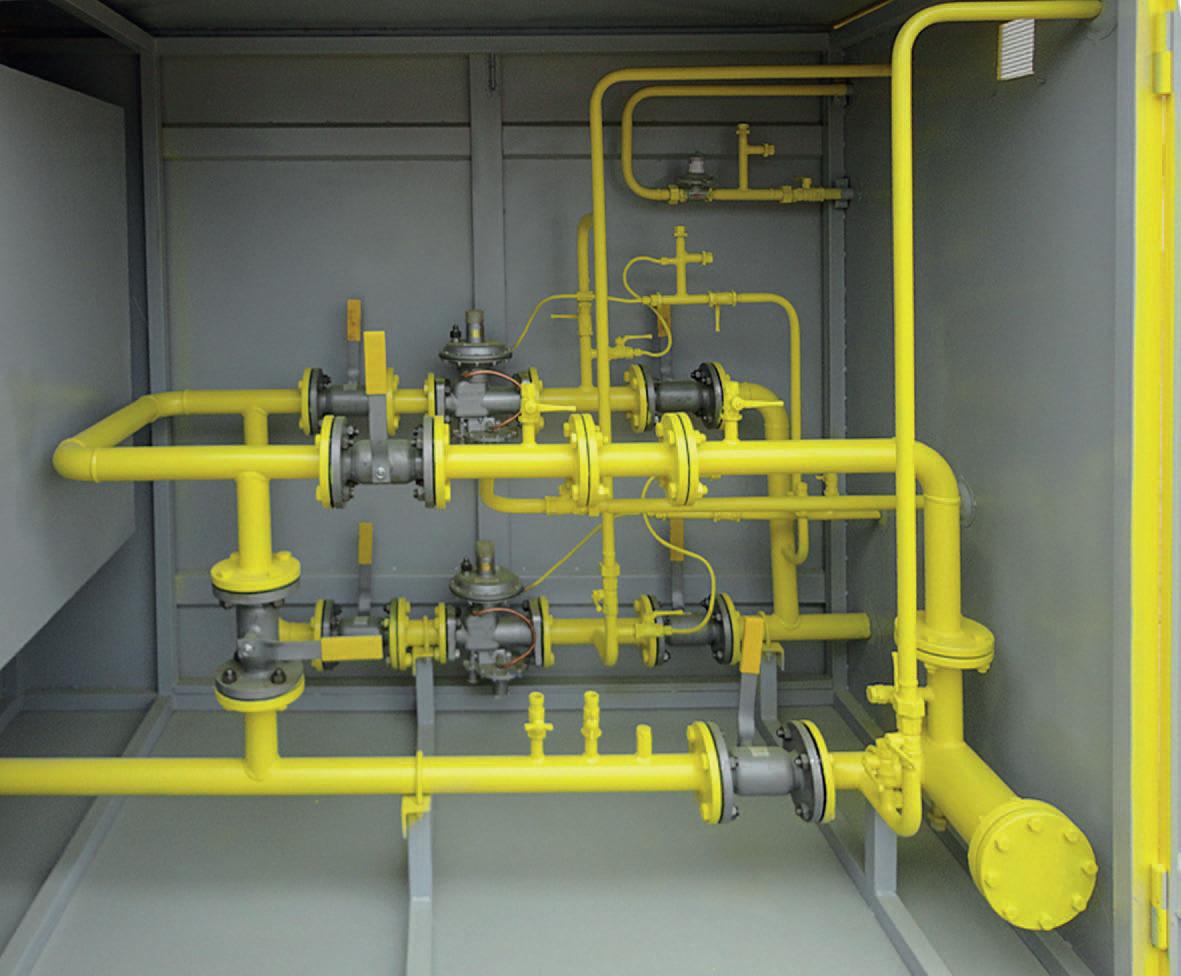 газорегуляторные пункты с двумя линиями редуцирования