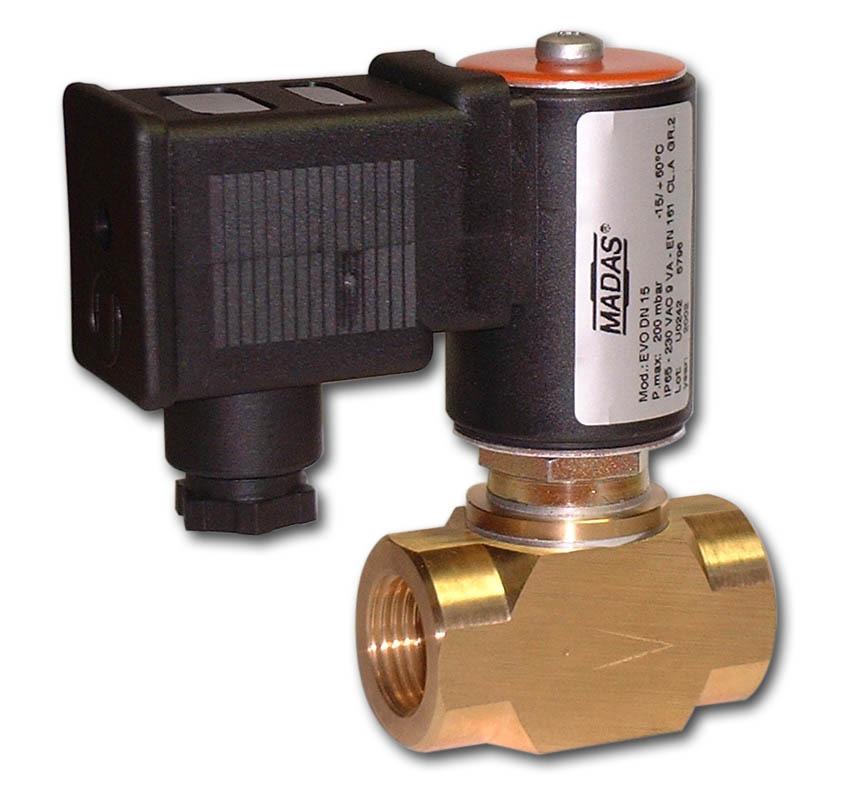 запорный электромагнитный клапан для газа