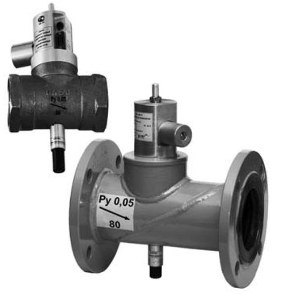 Клапан газовый запорный КЗГЭМ-У DN-80 электромагнитный ЦИТ