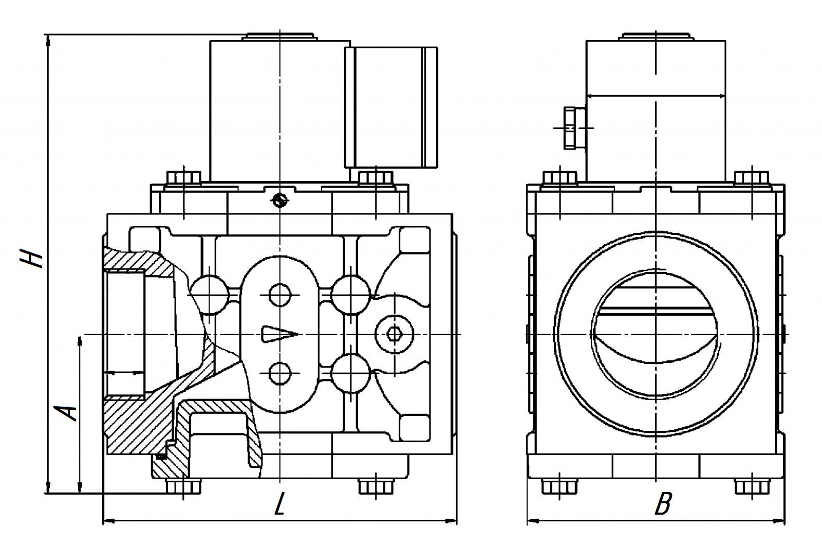СГ - ЭКВз - Р - 0,75 - 25/1,6 (1:30) слева RABO