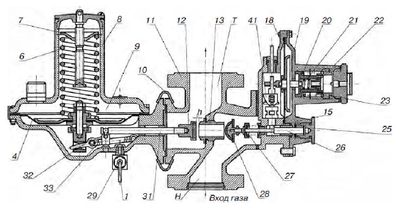 Клапан отсечной к РДНК-50